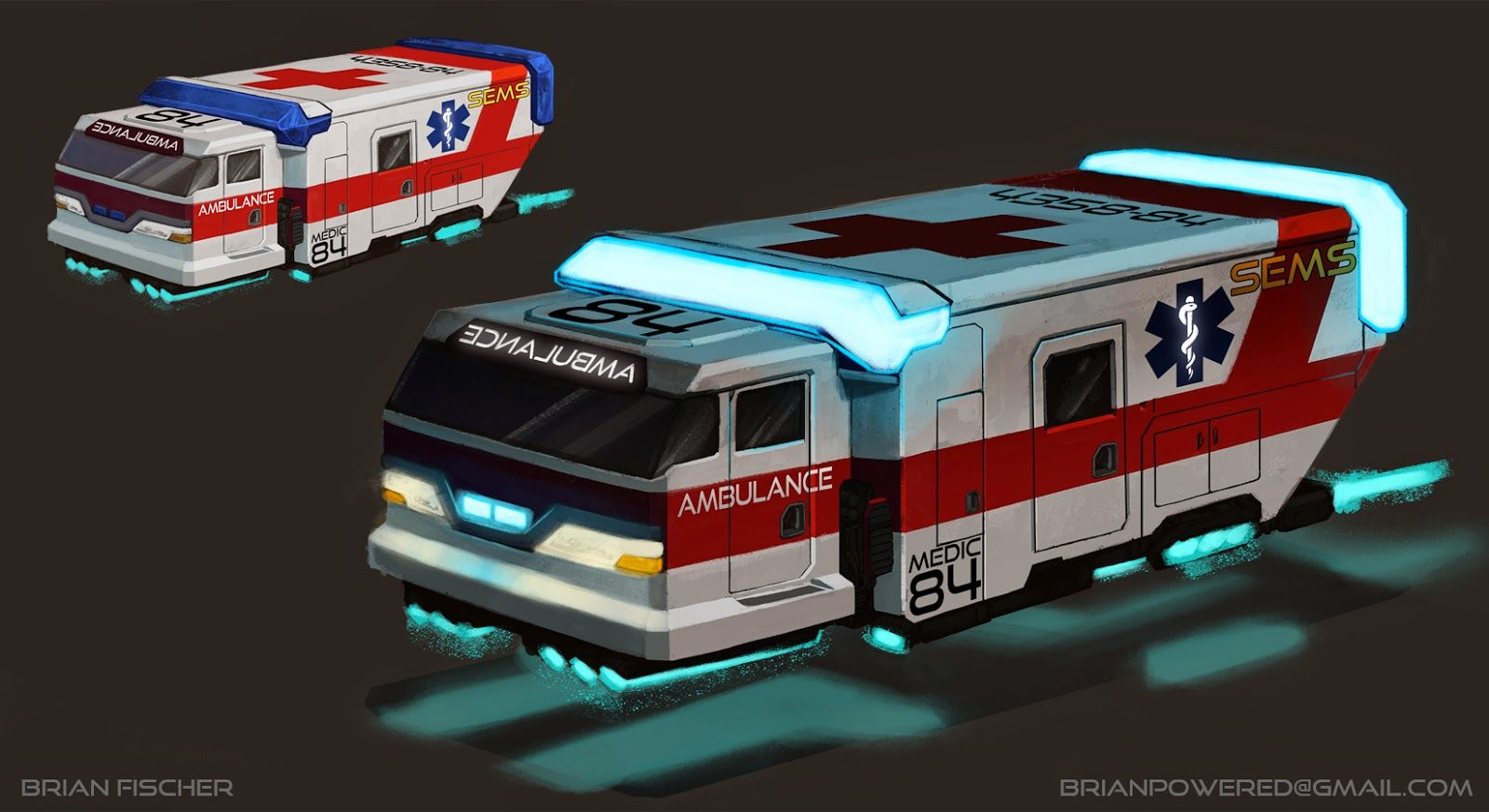 Futuristic Emergency Vehicles
