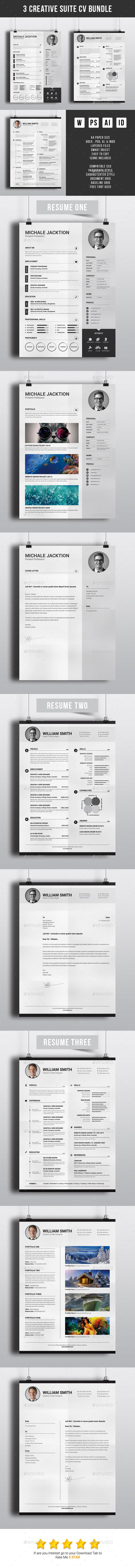 Creative Suite CV Bundle Templates PSD, Vector EPS, InDesign INDD, AI Illustrator, MS Word. Download here: https://graphicriver.net/item/creative-suite-cv-bundle/17244382?ref=ksioks