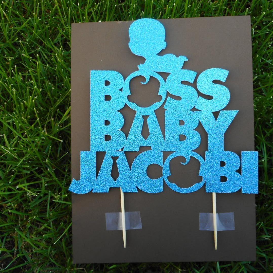 Boss baby cake topper crafty sunshine studio