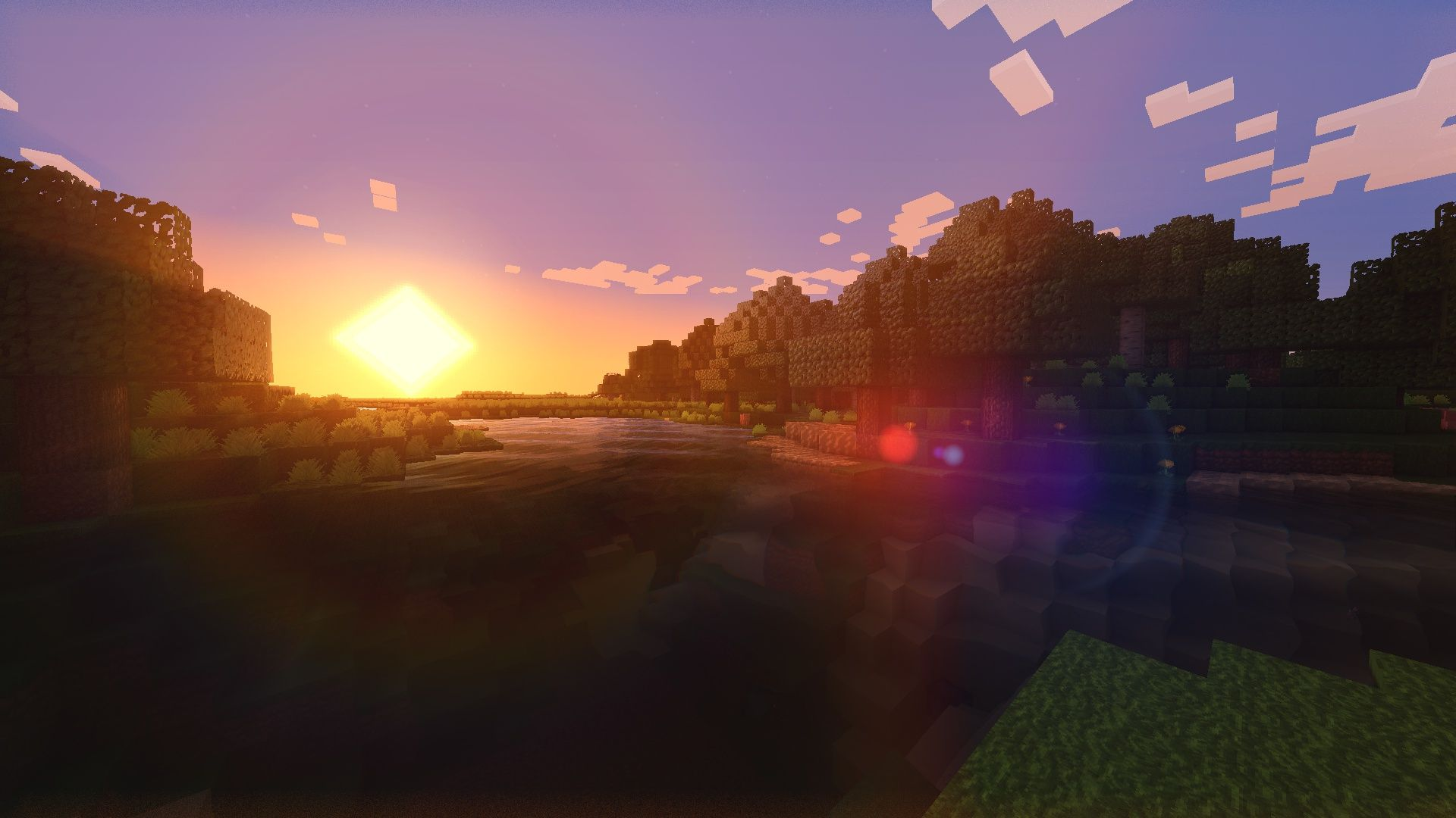 Minecraft Shaders Sunsetviewing Gallery For Minecraft Shaders Sunset Tb9xpunf Jpg 1920 1080 Minecraft Shaders Minecraft Wallpaper Fantasy Landscape