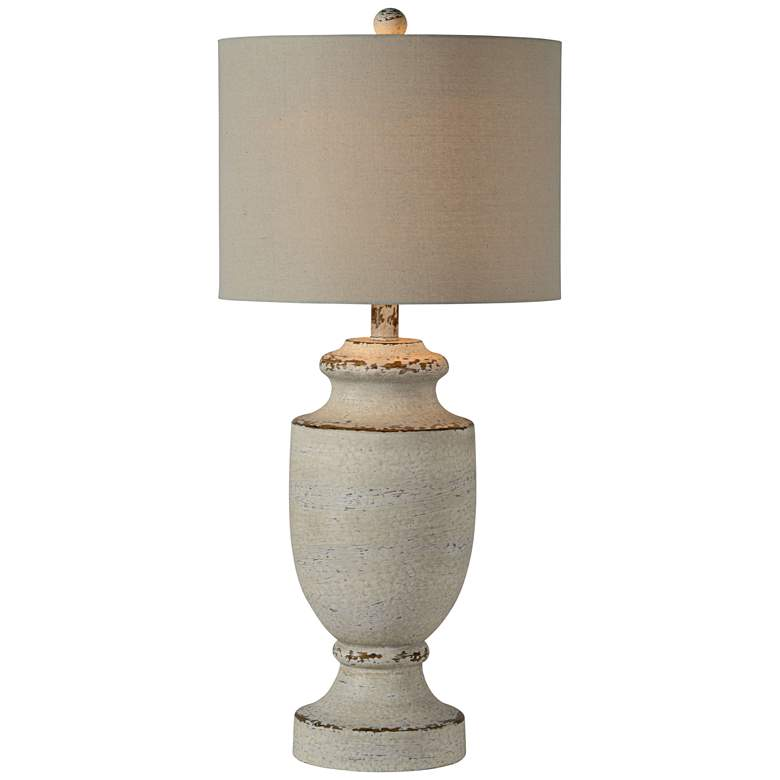 Forty West Barb Gray Wash Table Lamp 73j46 Lamps Plus In 2020 Table Lamp French Table Lamp Lamp
