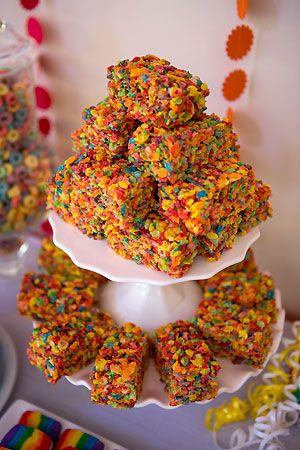 Fruity Pebbles - rice krispie treats!