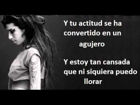 Amy Winehouse What It Is Traduccion En Pantalla Youtube Con