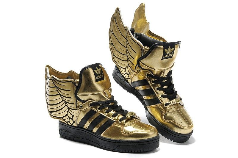 jeremyscott #shoes #adidas #hightops #gold #wings #musthave