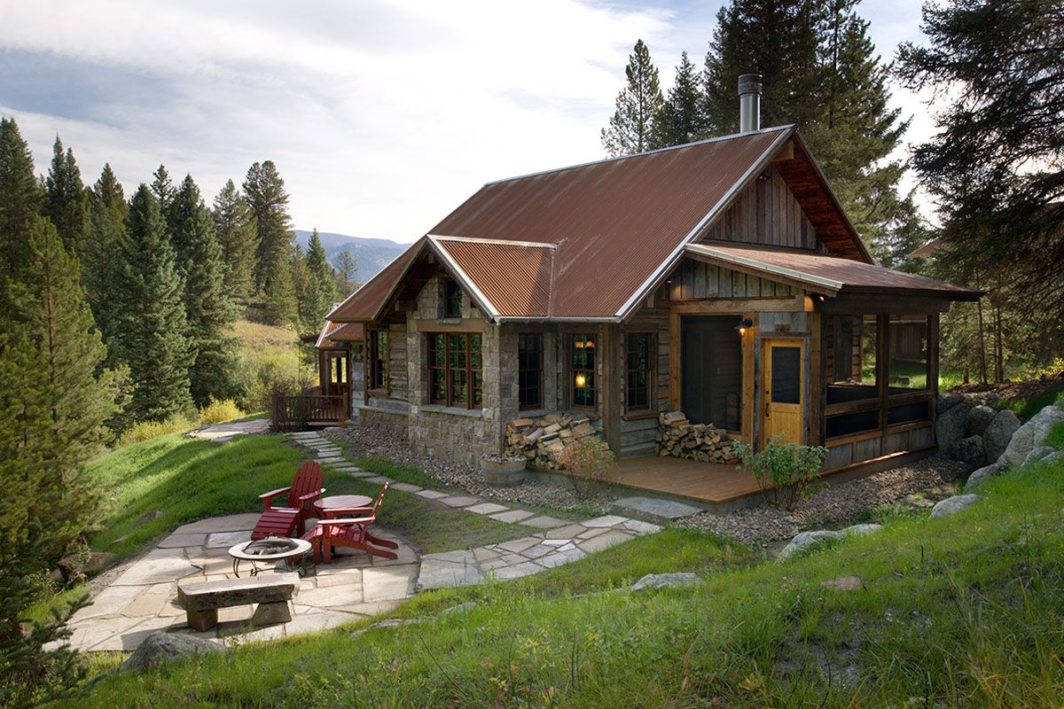 Rustic Modern Cabin From Brunelle Architects. Inc, | Hailey, Idaho | Unique