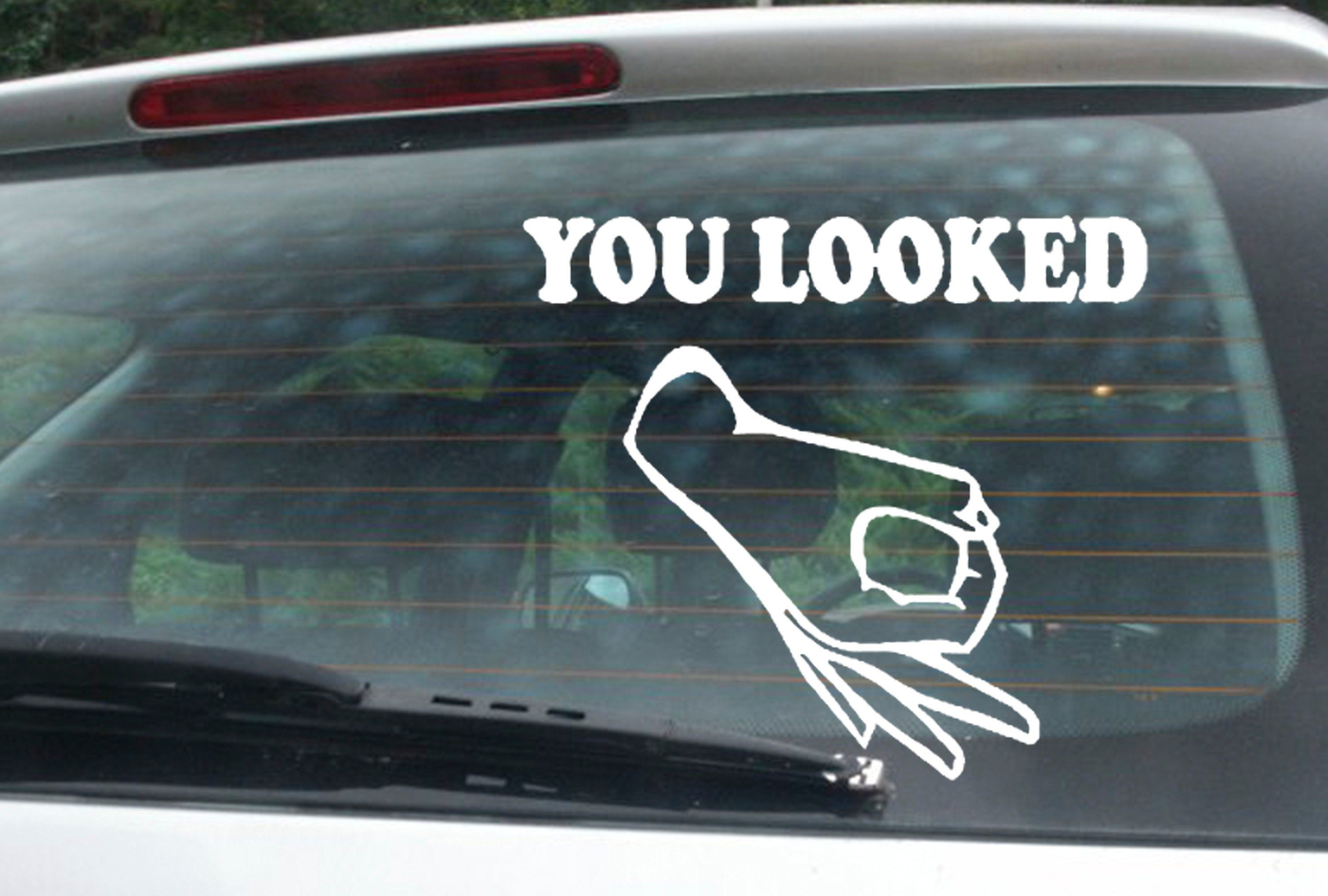 You Looked Window Sticker Funny Decal Sticker Car Window Decal Wall Sticker Labtop Decal Vinyl Art In Various C Window Stickers Funny Decals Funny Stickers [ 2025 x 3000 Pixel ]