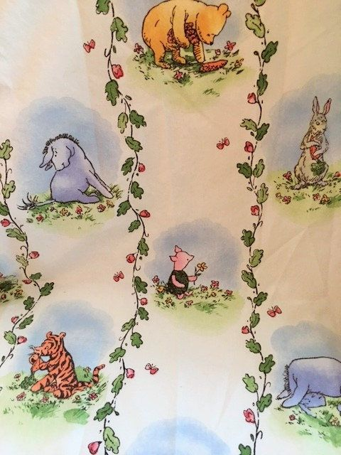 Classic Pooh Winnie-the-Pooh Crib Sheet 1995 by VintageJoyBistro