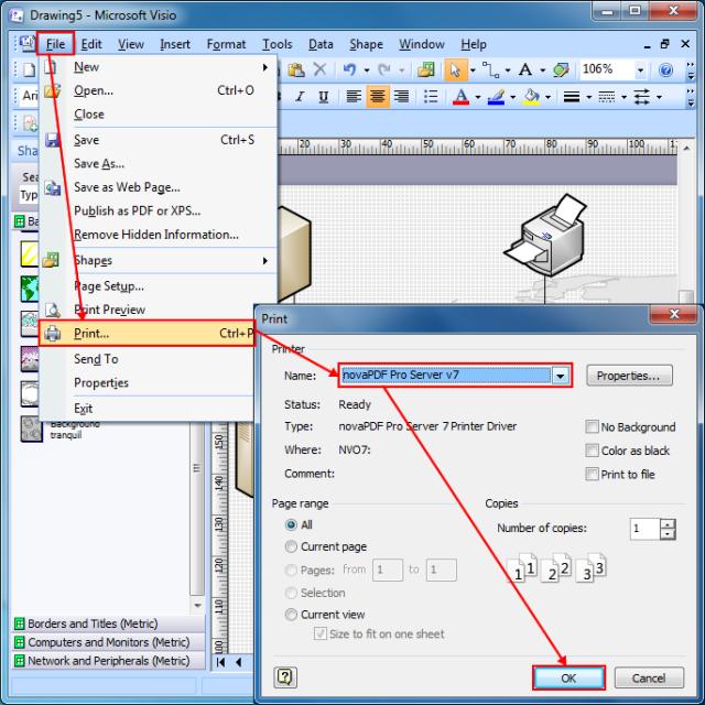convert visio to pdf on windows - Visio Opensource