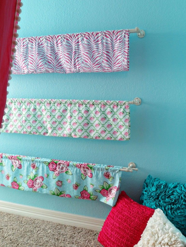 DIY Fabric Bookcases