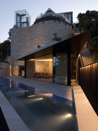 The Kharkov house in Sydney by Collins  Turner Houses Pinterest - Idee Facade Maison Moderne