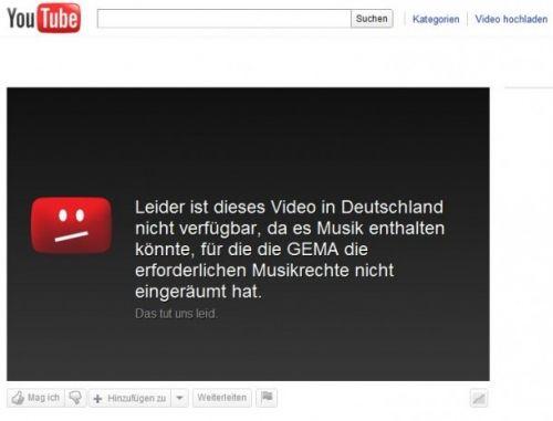 GEMA vs. Youtube: Sperrt Youtube willkürlich Videos?