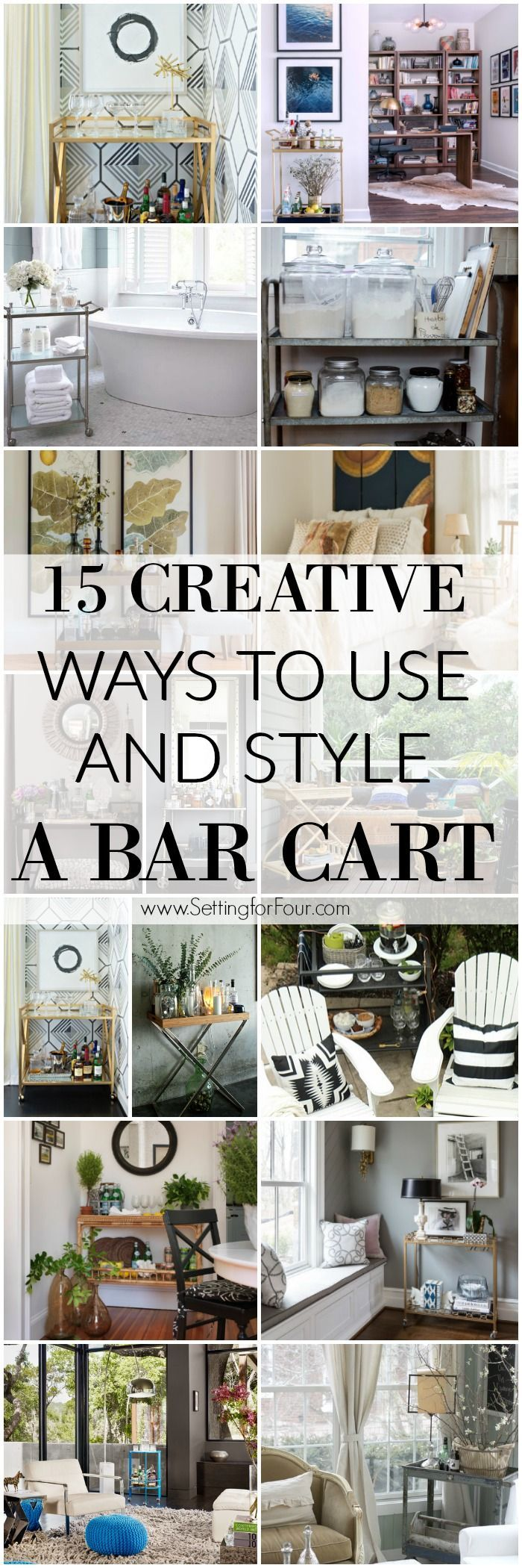 15 Creative Ways To Use and Style A Bar Cart