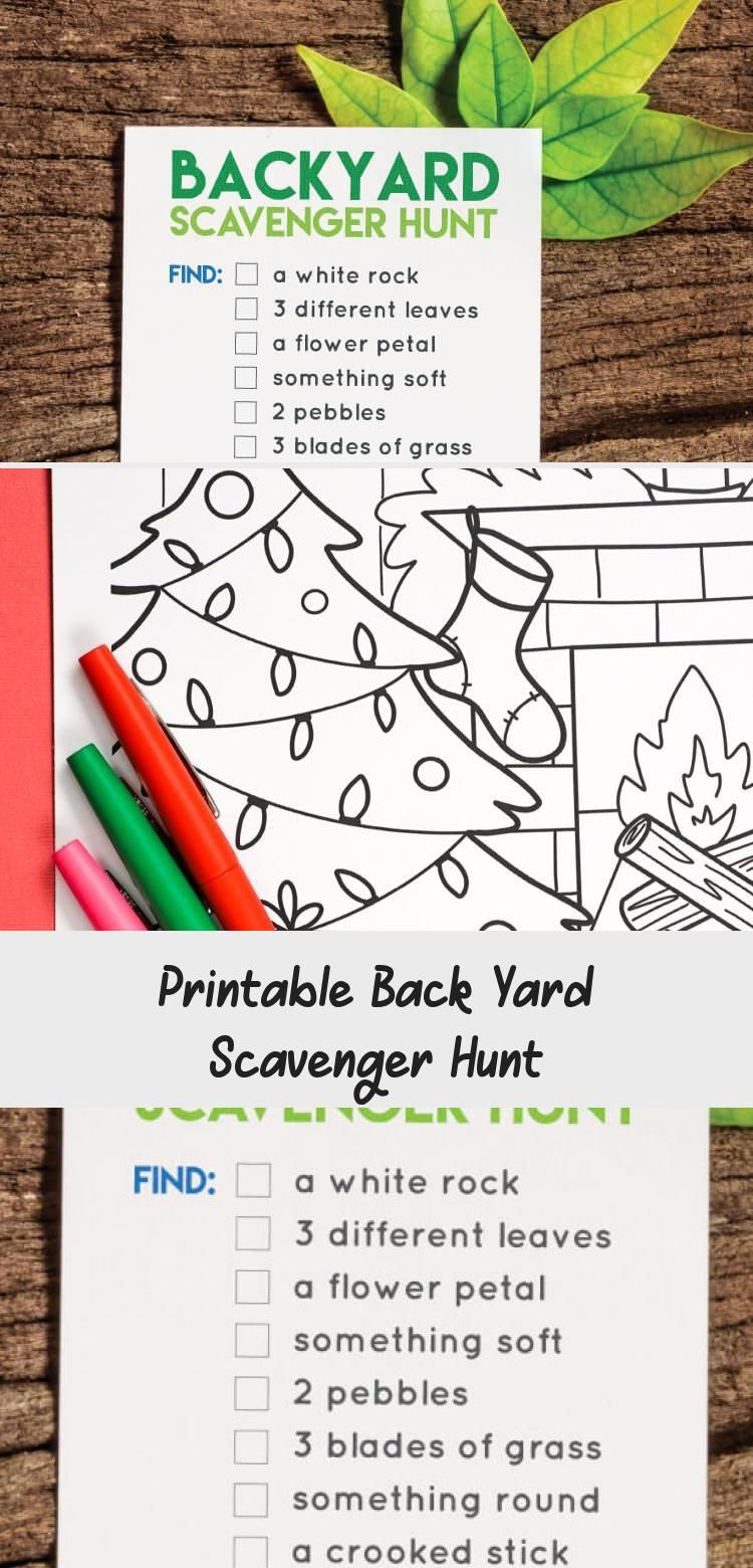 Printable Back Yard Scavenger Hunt in 2020 (With images ...