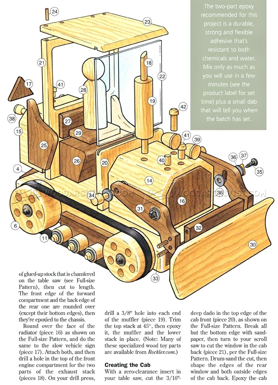 12 wooden toy bulldozer plans smart wooden toy plans for