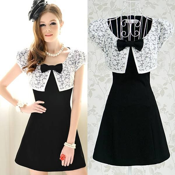 Cute Black And White Dresses Photo Album - Reikian