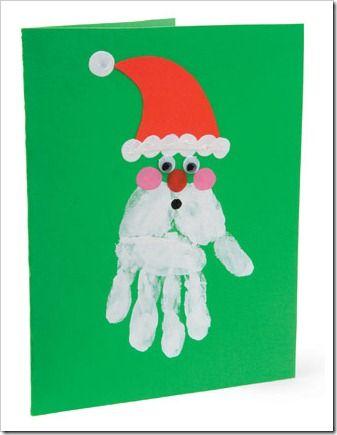 Manualidades Navidad Huella Manos 17 Manos Dedos Y Pies - Tarjetas-navideas-para-nios