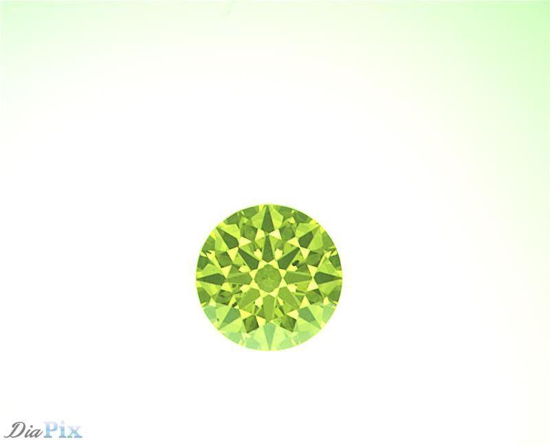 0.60 Ct. Round Brilliant SI1 Citrus Fancy Vivid Greenish-Yellow