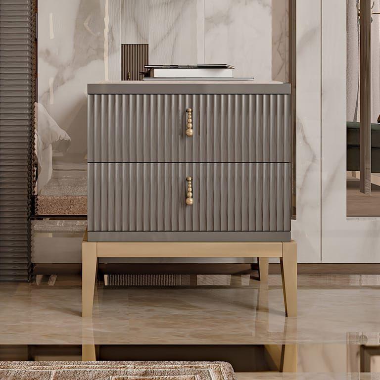 Italian Art Deco Inspired Designer Lacquered Bedside