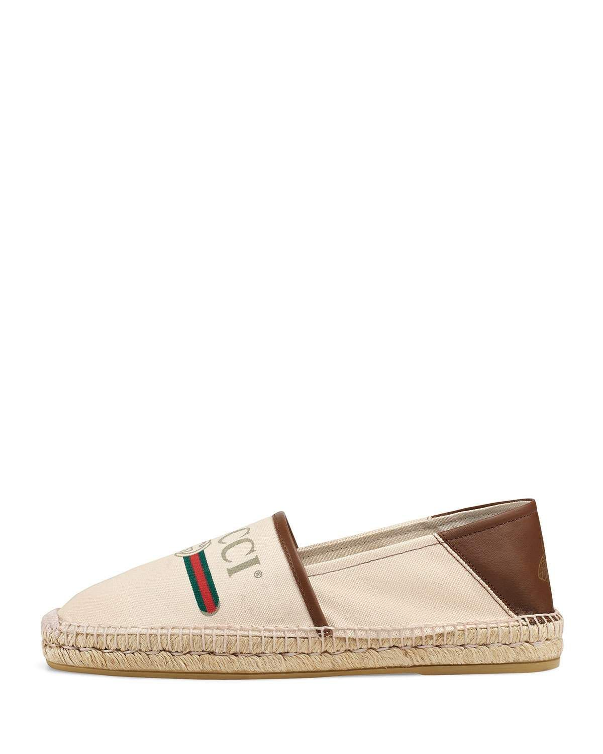 485f0ce1c Gucci Men's Alejandro Logo-Print Fold-Down Espadrille | Products ...