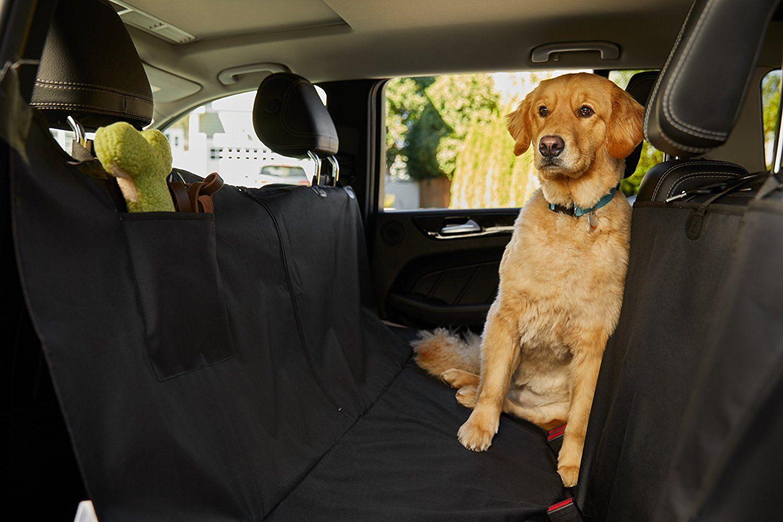 The Original Gorilla Grip Tm Non Slip Pet Car Seat Protector For Pets Waterproof Underside Grip Black Check O Dog Seat Covers Pet Car Seat Dog Hammock