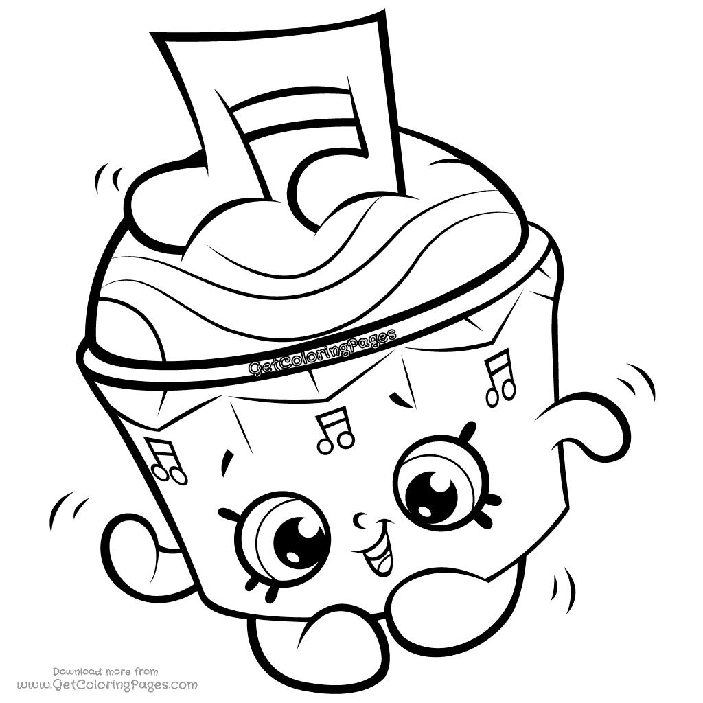 Cappella Cupcake Shopkins Season 7 Coloring Page