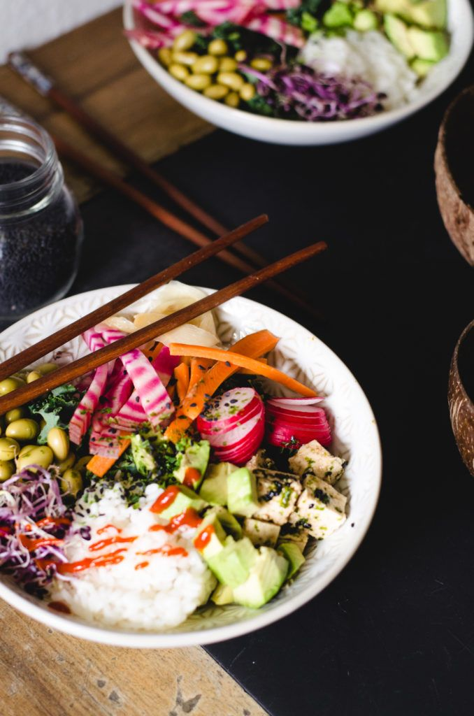 Sushi bowl seaweed sesame tofu buddha bowl land pinterest recipes forumfinder Gallery