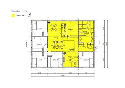 成瀬 猪熊建築設計事務所による名古屋のシェアハウス Lt城西