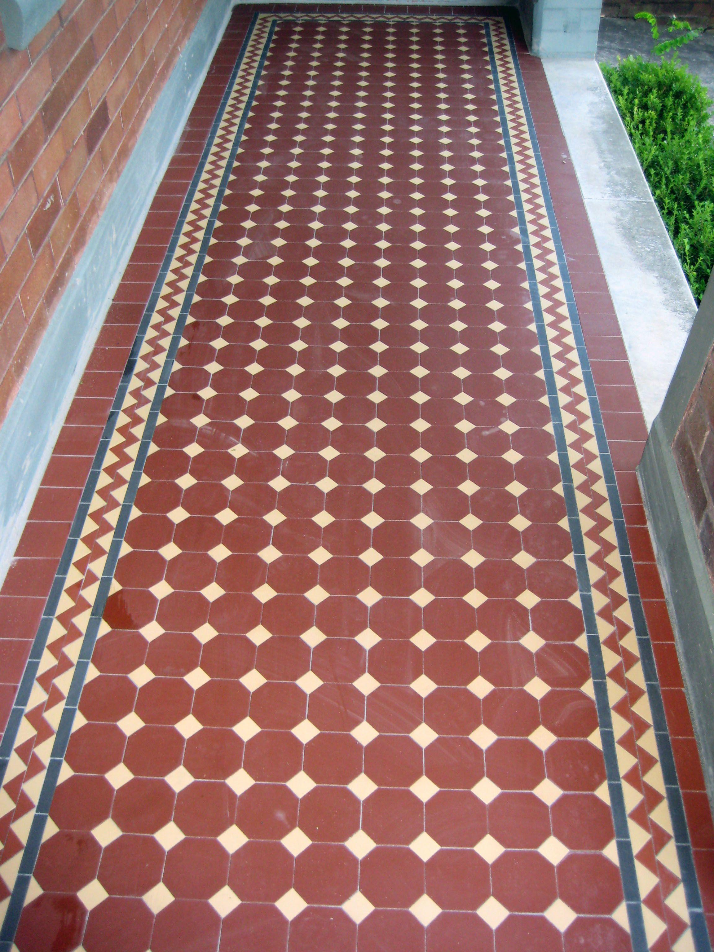 Pin By Muthu Krish On Tessellated Tiles Verandahs Brick Texture Victorian Tiles Hall Flooring