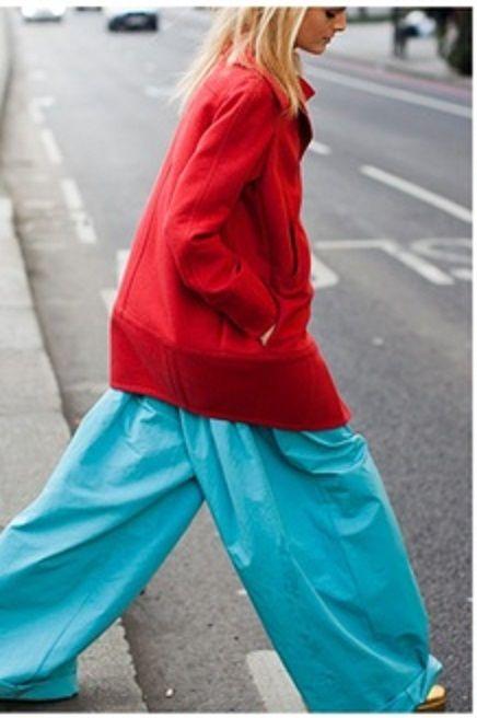 large pantalon bleu