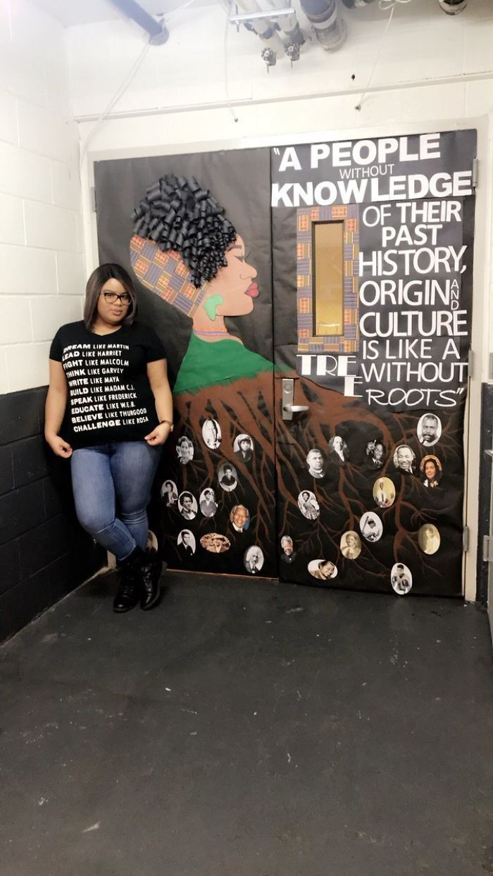 Photo of Black-History-Month-Teacher-Door-Decoration