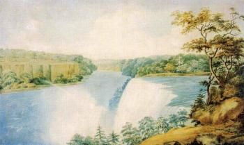 Niagara Falls from Goat Island Looking toward Prospect Point - Charles Fraser - The Athenaeum