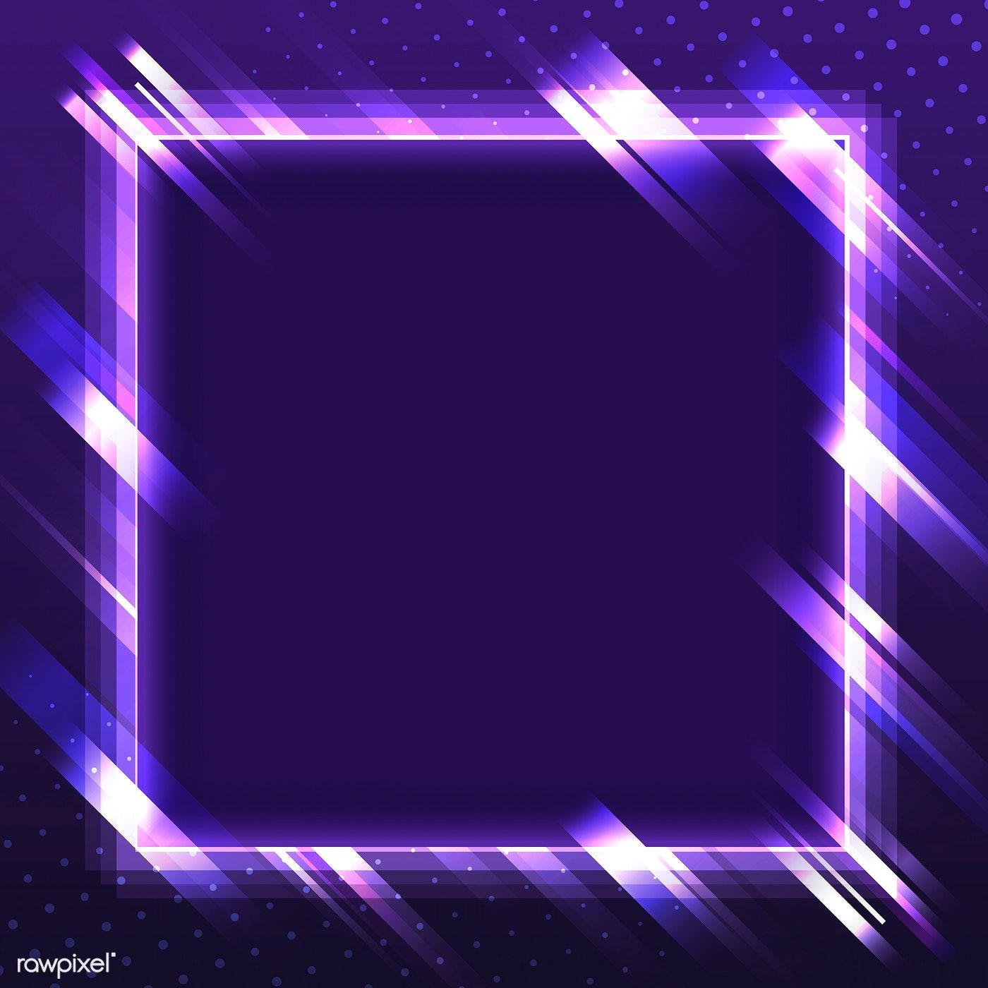 Blank Violet Square Neon Signboard Vector Free Image By Rawpixel
