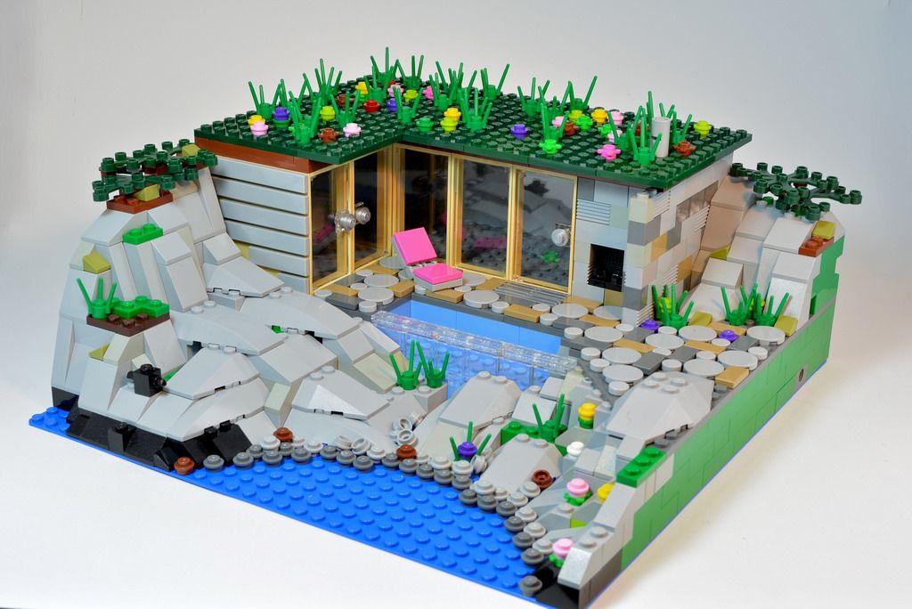 Module 11 - Modern summer house (by birgburg) | Lego house ...