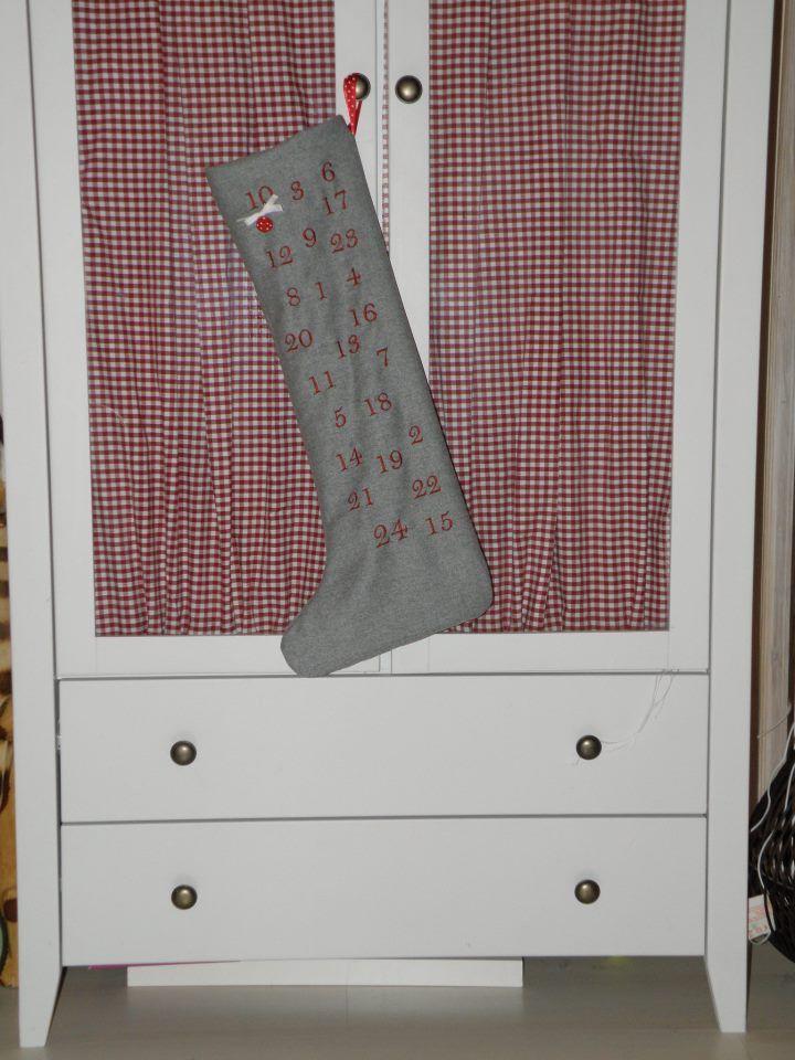 Joulu kalenteri sukka :-)