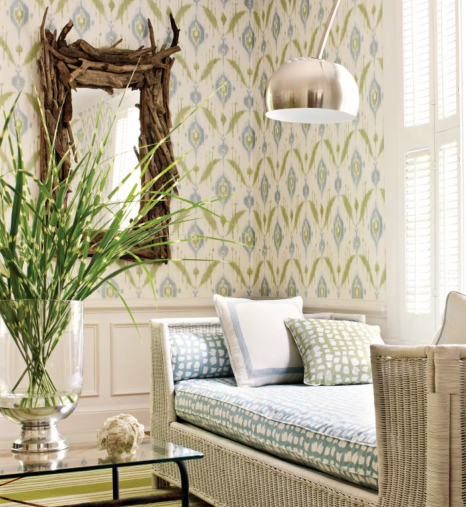 This New Wall Covering From Thibaut Fits Into Modern Homes With Ease.  Island Ikat Comes