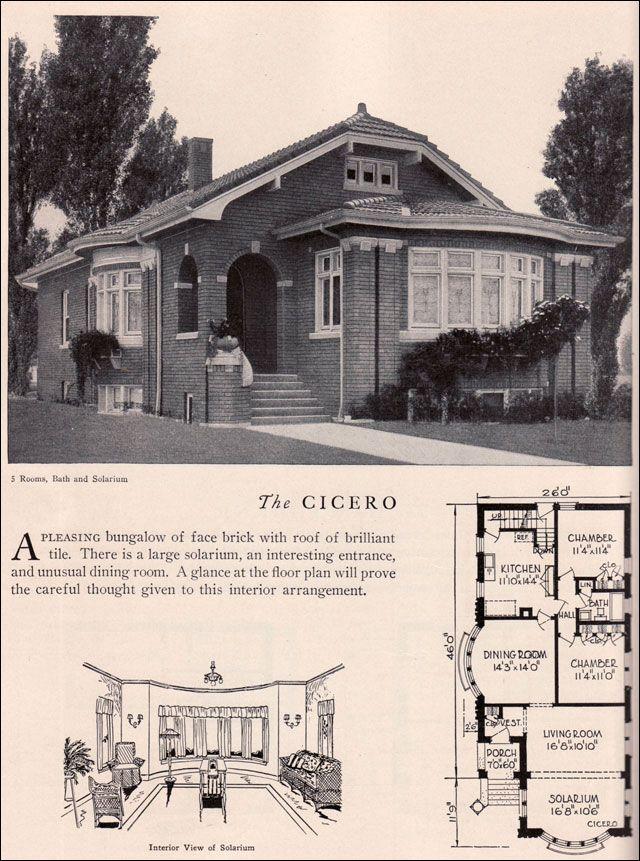 Home Builders Catalog 1929 Cicero American Residential