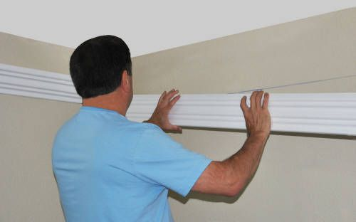 Install Led Rope And Indirect Lighting In Foam Crown Molding Foam Crown Molding Indirect Lighting Led Rope Lights