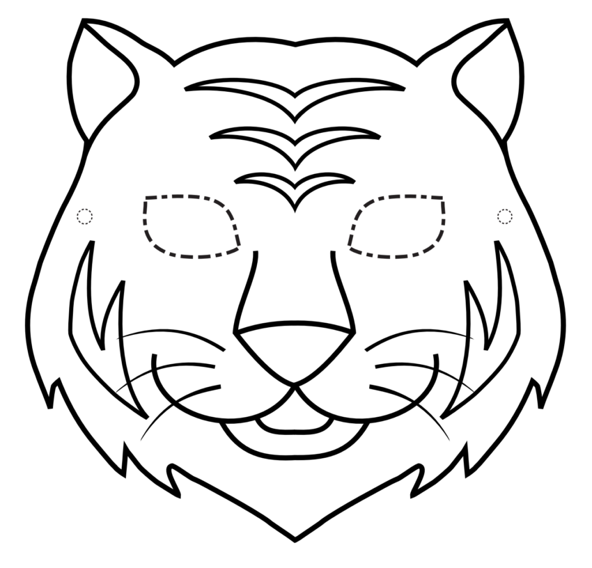 Maschera Da Stampare E Colorare Tigre Pagine Da Colorare
