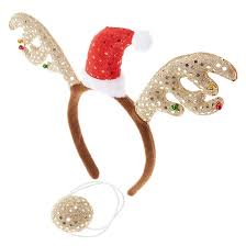 Reindeer Antlers Headband And Nose Claire S Us Antler Headband Reindeer Antlers Reindeer