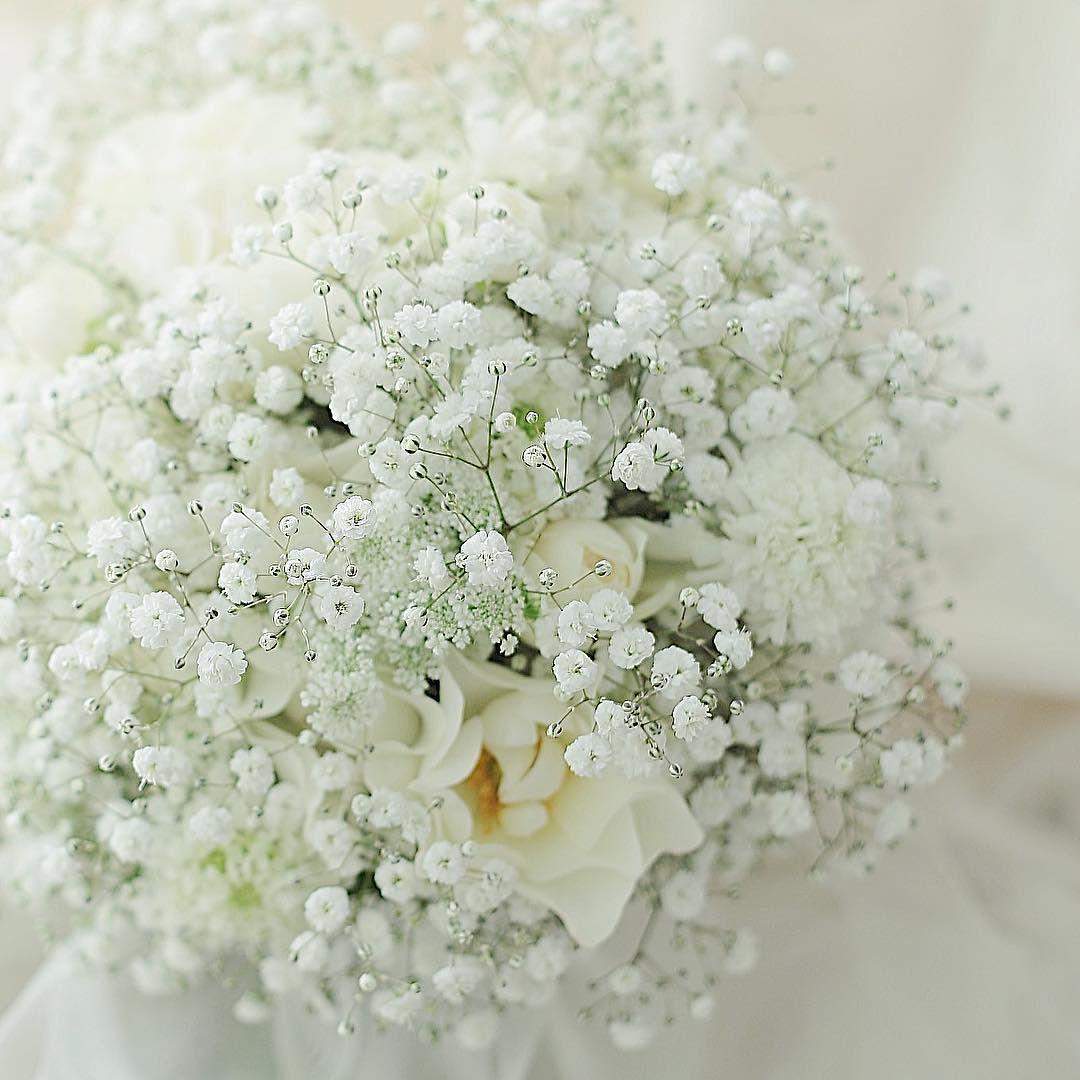 一会 Ichie On Instagram かすみ草いっぱいの中の星のような小さい白い花たち 右下のひらひらしているのはバラのウェディングドレスです ウェディングドレス Haraengei バラ かすみ草 カスミソウ ブーケ クラッチブーケ ブーケレッスン