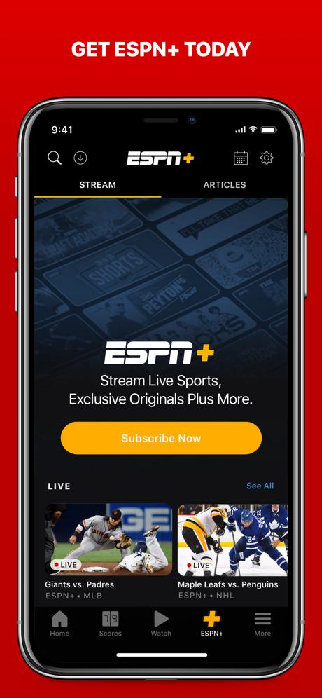 Espn Live Sports Scores On The App Store Espn Sports Scores Scores