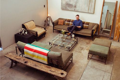 Military Clothing Inspired Furniture: Stephen Kennu0027s Inheritance Collection  Repurposes Used World War II Military Fabrics In Its Seating Elements