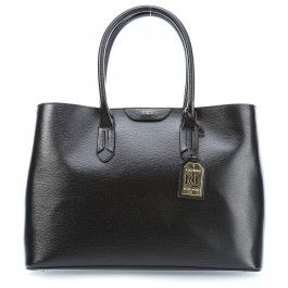 27c474a4094b6 ... ralph lauren tate handtasche schwarz. Tate Handtasche geprägtes  Rindsleder schwarz