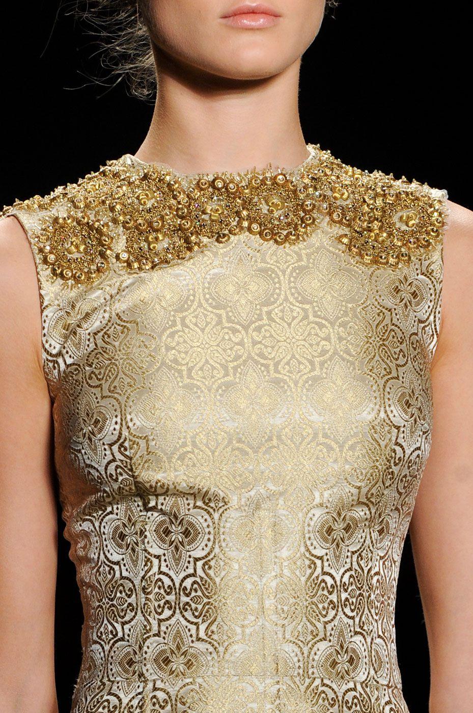 Vera Wang Details S/S '13 #Baroque #Print #Pattern