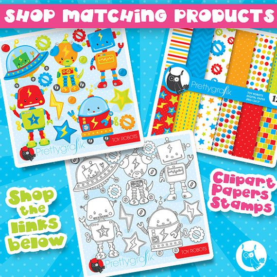 BUY20GET10 - Toy robot paper digital papers, commercial use