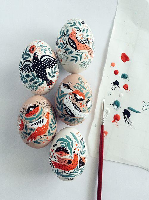 Les oeufs de Pâques peints de Mirdinara , Plumetis Magazine