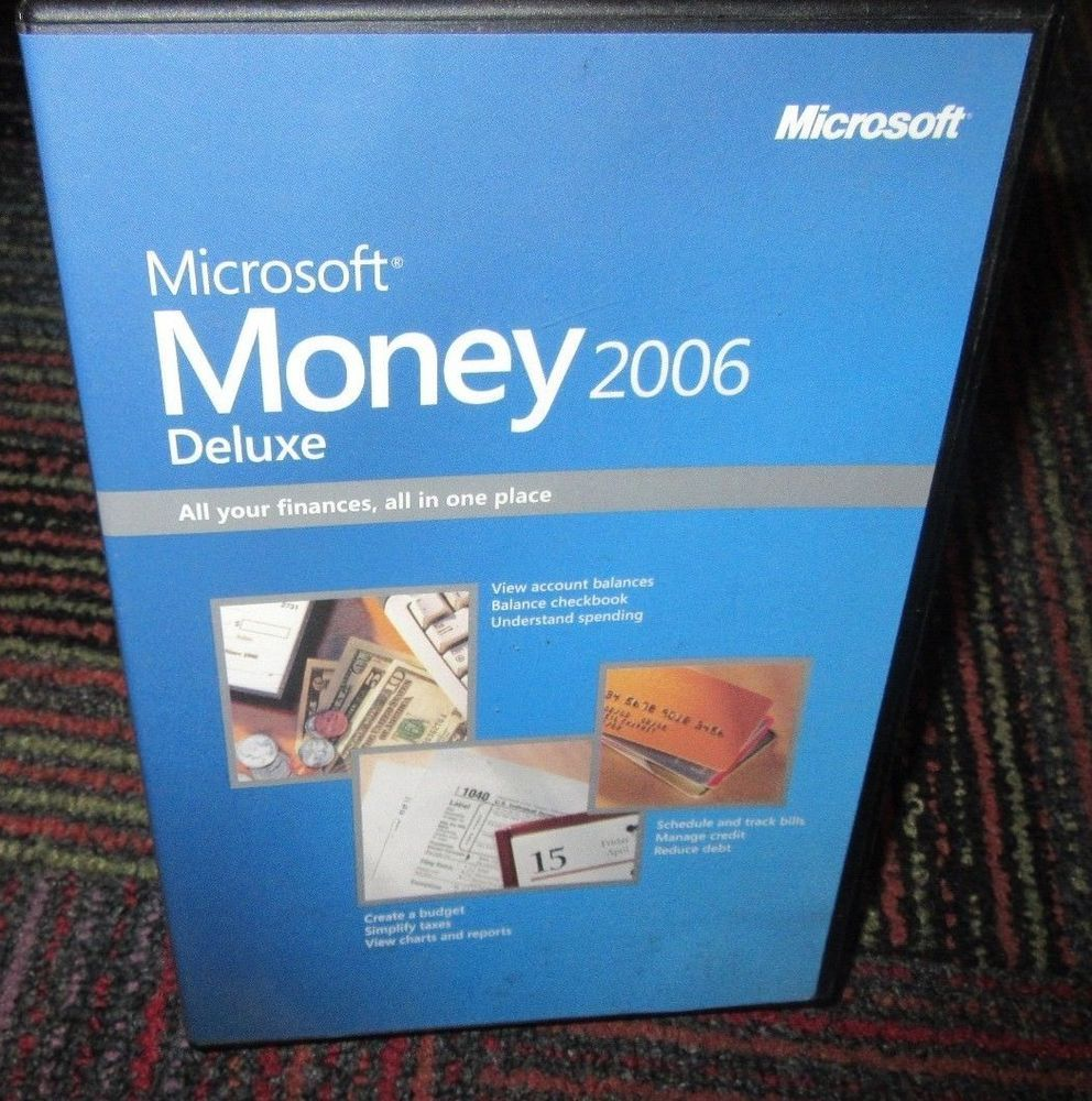 microsoft money 2006 deluxe edition pc cd rom software personal