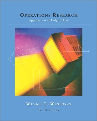 Operations Research Winston Solutions Manual Pdf Textbook