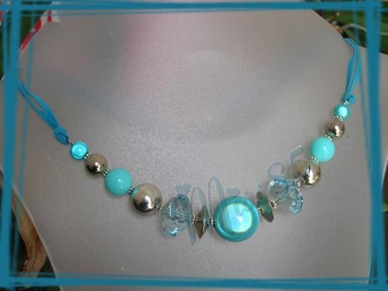 Collier turquoise collier ras du cou le carrousel bijoux fait maison collier pandora - Bijoux fait maison ...