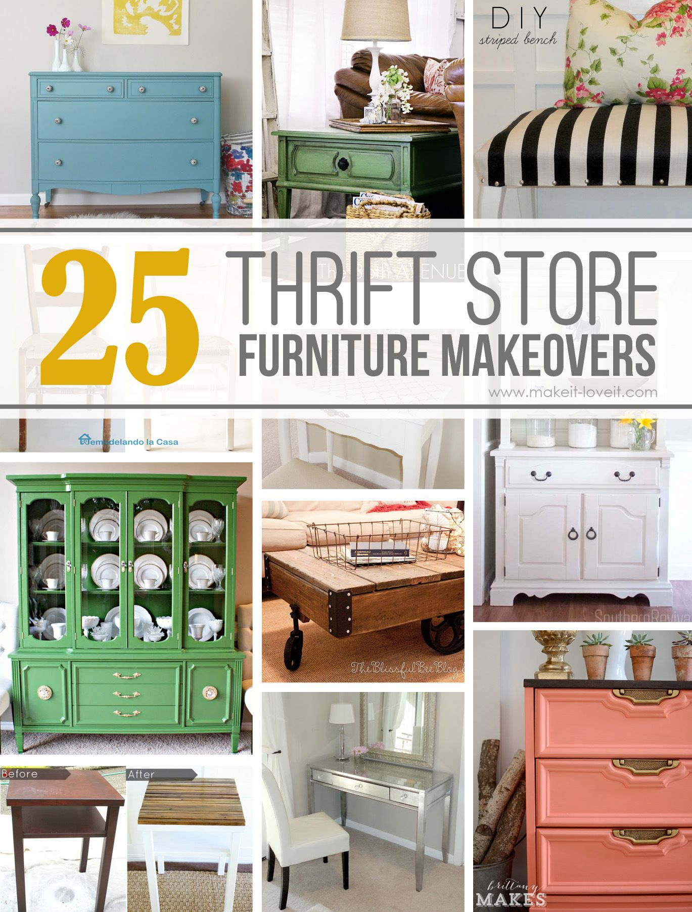 25 amazing thrift store furniture makeovers via make it and love it hacks tips tricks - Furniture advertising ideas ...